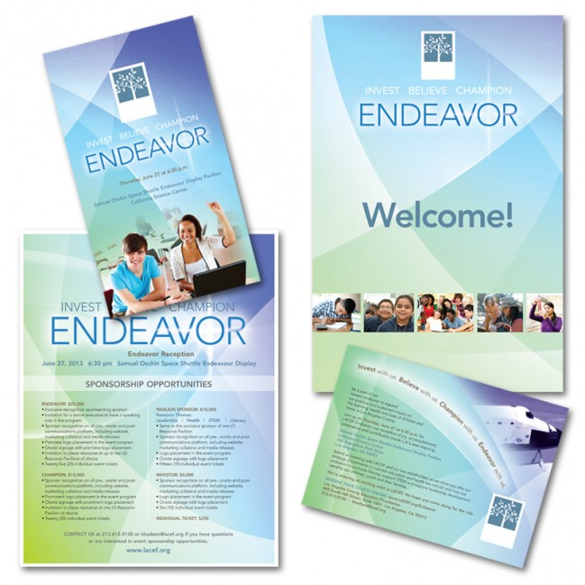 Endeavor event branding, Los Angeles